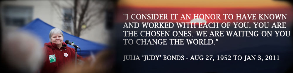 Judy, you will always be an inspiration.